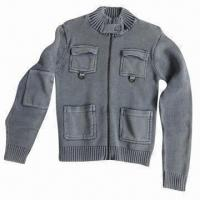 Stonewashed Women's Sweater, Made of 100% Cotton Manufactures