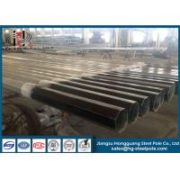 China Q345 Steel Electrical Power Hot Dip Galvanized Octagonal Pole 11m With Holes on sale