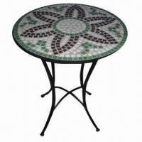 Mosaic Table, Made of Metal and Mosaic, Measures 60 x 70cm