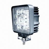 China 12V/24V DC/27W LED Work Light, Square Spot Flood Beam for Driving/Camping/Mining Heavy-duty Vehicles on sale