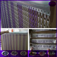 Purple & silver Fashionable Decorative Aluminium Double Hooks Chain Fly Screen Curtain Manufactures