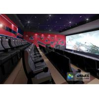 4D Red / Black Movie Theater With Motion 3 DOF Chair And Special Effect In Hall Manufactures