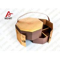 Golden Coated Customized Cardboard Gift Boxes With Lids CMYK Printing