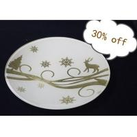 24K Gold Foil Hand-finished Glass Craft, Decorative Plate Manufactures