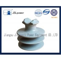 F Neck 35kV Disc And Pin Insulators Tie Top HDPE Insulator With 1 Pin Hole Manufactures