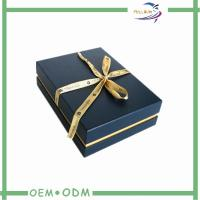 China Black Jewelry Gift Boxes With Velvet Insert , Necklace Packaging Box on sale