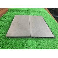 Green Plastic Composite Timber Cladding Panels / Siding Panel Wood Grain Surface Manufactures