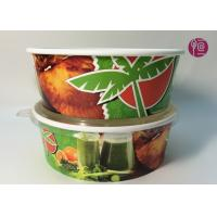 Custom Logo Flexo Print Paper Salad Bowls Disposable 44oz With Lid Manufactures