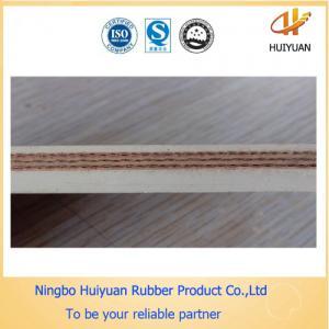 Food Grade white Conveyor Rubber Belts not PVC belt (EP100-EP500) Manufactures
