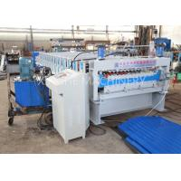 China PLC Automatic Zinc Roofing Roll Forming Machine / Corrugated Roof Sheet Making Machine on sale