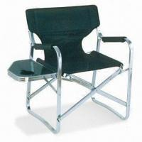 China Folding Director Chair with Side Table, Aluminum Frame and 600 x 300D Polyester Fabric on sale