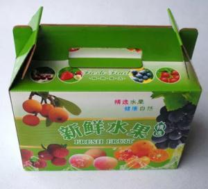 carton fruit box with handle