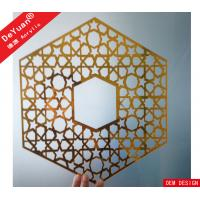 Home Decoration Golden Mirror Acrylic Sheet Wall Sticker Laser Cutting Manufactures