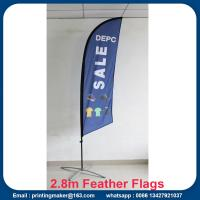 Advertising Custom Flags Wind Feather Flags Manufactures