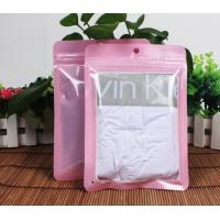 Grip seal zipper plastic bags for clothes / apparel packaging front clear Manufactures