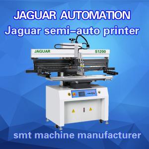 semi-auto led smt solder paste printer/ solder stencil printer/screen printer for pcb size 1200m Manufactures