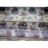 Quality 60 Inch Organza Custom Printed Fabrics Watercolor Big Floral For Window Curtain for sale
