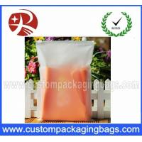 Customized CPE Half Clear Frosted Plastic Ziplock Bags for Cothes Packing Manufactures