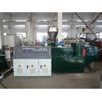 WPC / PVC Plastic Pelletizing Machine , Conical Twin Screw Extruder Manufactures