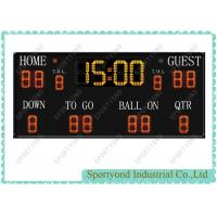 American Football Led Electronic Scoreboard With Score Timer Manufactures