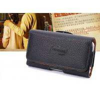 iPhone Clamshell Belt hanging waist leather case Old man phone bag Universal hanging waist leather case Manufactures