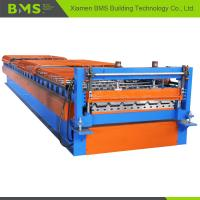 Metal Roof Panel Roll Forming Machine , Roof Panel Making Machine 12-15m/min  Manufactures