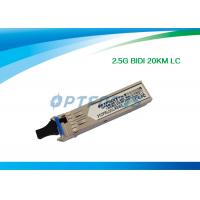China 1.25G Bi - Di SFP Optical Transceiver 20km Simplex LC Connector RoHS wholesale