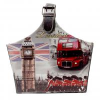London Big Bell Bus Design Pattern Sundries Basket Leather Storage Basket Shopping Storage Basket Manufactures