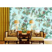 0.53*10m Waterproof Country Style Wallpaper For Bedding Room , Non Woven Materials Manufactures