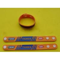 Personalized Soft PVC Rubber Wristband Sport Bracelet With Embossed Logo , Adjustable Size Manufactures