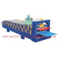 Standing Seam Roof Panel Roll Forming Machine / Corrugated Rolling Forming Line Manufactures