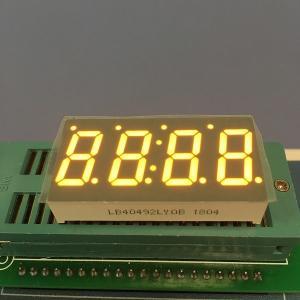 "0.49 "" LED 7 Segment Display Amber Color For Temperature Indicator Manufactures"