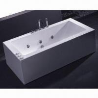 Free Standing Acrylic Bathtub with Soaking Function, Measures 1,800 x 880 x 580mm Manufactures