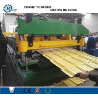 Colorful Tile Roll Forming Machine With Touch Screen PLC Control Manufactures
