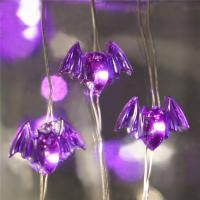 silver wire halloween string lights battery operated purple smd hat Led halloween lights Manufactures