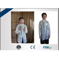 China Long Sleeve Non Woven Disposable Lab Coats Fluid Repellent For Children on sale