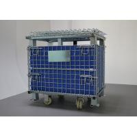 China Cold Galvanized Foldable Movable Wire Mesh Box For In - Line Assembly Work on sale