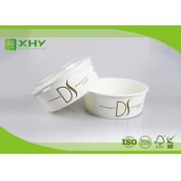 26oz Nice Upscale Smooth Golden Ink Printing Paper Salad Bowls with Clear Flat Lids Manufactures
