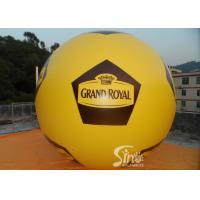 Soccer Shape Giant Advertising Inflatable Helium Balloon With Full Printing Manufactures