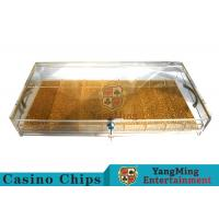 Circle And Square Two Yards Casino Chip Case Portable With Cartridge Handle Manufactures