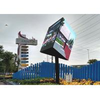 Quality SMD3535 Creative LED Screen Triangle Led Display For Shopping Malls High Gray for sale