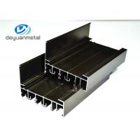 Customized  Electrophoresis  Aluminum Extrusion Profile For Decoration 6060-T5 / T6 Manufactures