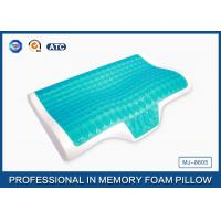 Ergonomic Memory Foam Cooling Gel Pillow , Child Memory Foam Pillow Side Sleeper