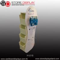customize corrugated POP hanging hook floor display with trays Manufactures