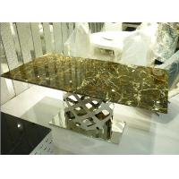 Contemporary Trendy Long Modern Living Room Furnitures Dining Table with Base Manufactures