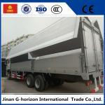 10 Wheelers Small Cargo Truck , Side Open Wing Van Truck 336hp Horsepower Manufactures