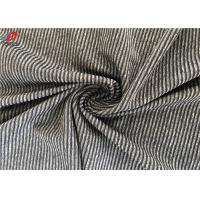Polyester Spandex Melange Striped Weft Knitted Fabric Environment Friendly Manufactures