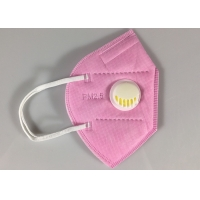 Disposable GB2626-2006 KN95 Earloop Face Mask With Valve In Pink Manufactures