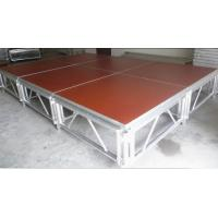 Red 3 - Level Plywood Aluminum Stage Platform With Anti - Slip Board Manufactures