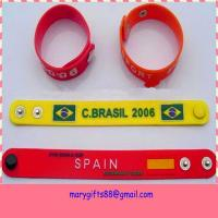 promotion pvc wristband for world cup Manufactures